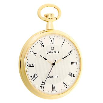 ORPHELIA Mens Analogue Pocket Watch Sentique Gold Stainless Steel 160-0014-82
