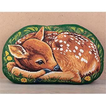 Panna Cross Stitch Kit - Fawn Cushion Front