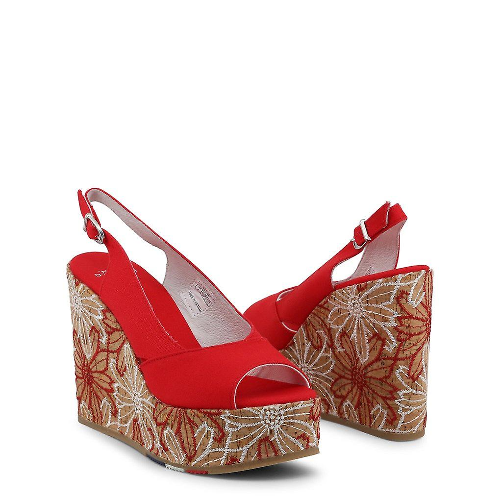 Woman leather wedges shoes ua49911