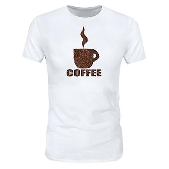 Allthemen 3D Coffee Print Short Sleeve T-shirt för Män