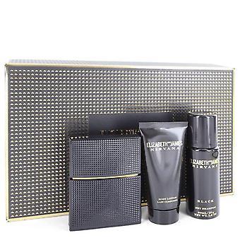 Nirvana Black Gift Set By Elizabeth and James 1 oz Eau De Parfum Spray + 1.7 oz Body Lotion + 1.3 oz Dry Shampoo