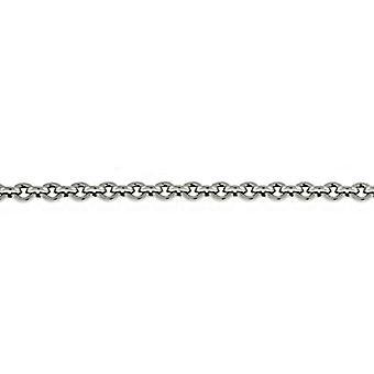 Platinum Cable 2.2mm Chain Halsband Smycken Gåvor för kvinnor - Längd: 16 till 30