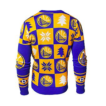 Forever Collectibles Nba Golden State Warriors Patches Ugly Sweater