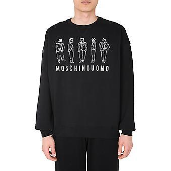 Moschino 171070271555 Män's Svart bomullströja