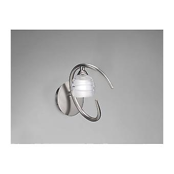 Loop Wall Light With Switch 1 Bulb G9 Eco, Satin Nickel