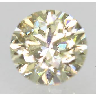 Certified 0.51 Carat K VVS2 Round Brilliant Enhanced Natural Diamond 4.9mm 2VG