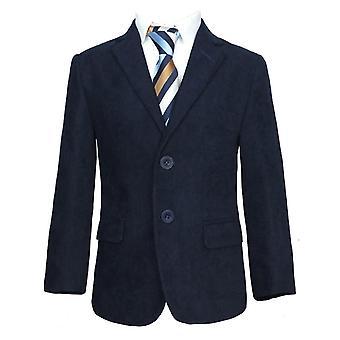 Boys Navy Blue Gabardine Jacket / Blazer