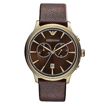 Emporio Armani AR1793 Classic Chronograph Brown Dial Brown Leather Men's Watch