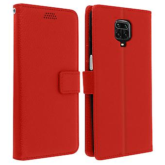 Xiaomi Redmi Note 9S/9 Pro/9 Pro Max Folio with Wallet Function - Red