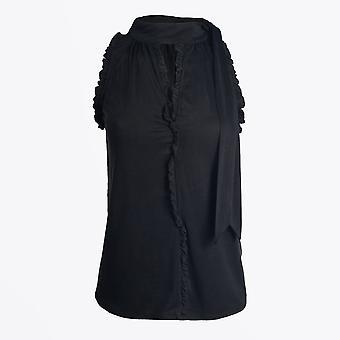 Gustav - Halterneck Sleeveless Top - Noir