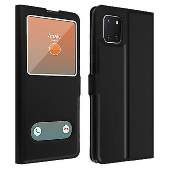 Galaxy Note 10 Lite Protective Double Window Back cover - Black