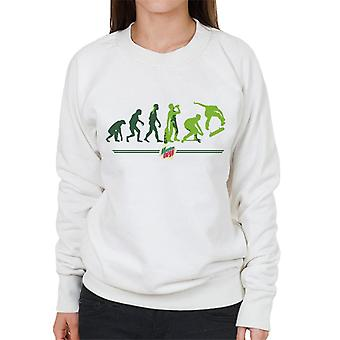 Mountain Dew Evolution Of A Skater Women's Sweatshirt