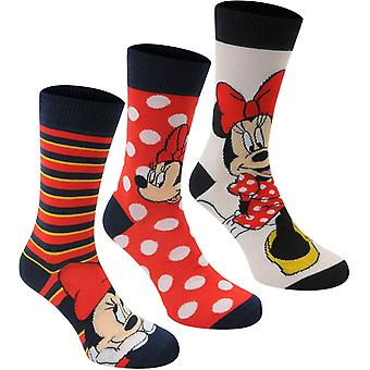 Disney 3 Pack Crew Socks Ladies