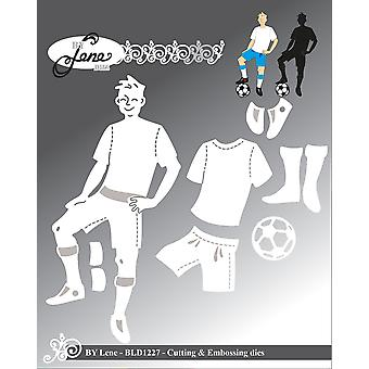 By Lene Football Player Cutting & Embossing Dies