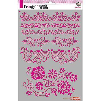 Pronty Crafts Barok Fronteiras A4 Stencil