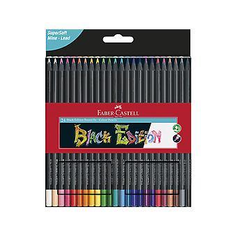 فابر كاستيل الأسود طبعة أقلام الرصاص الملونة (24pcs) (FC-116424)