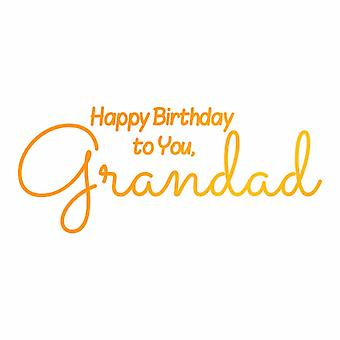 Ultimate Crafts Hotfoil Stamp Grandad's Birthday (2.9x 1.2in) (ULT158104)