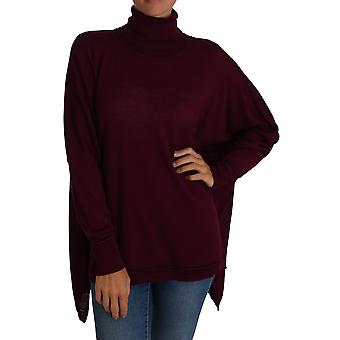 Cavalli Purple Jumper Turtleneck Polo Sweater -- TSH2960304