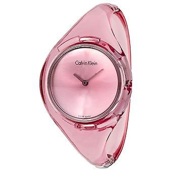 كالفن كلاين K4W2SXZ6 نقية الوردي الاتصال السيدات ساعة صغيرة