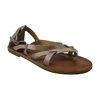 Gelukkige merk Womens Ainsley open teen casual strappy sandalen