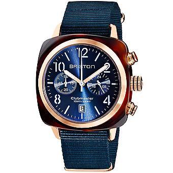 Briston Clubmaster Classic Blue Dial Blue Nylon Strap Quartz 19140.PRA.T.33.NMB Men's Watch