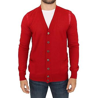 Karl Lagerfeld Karl Lagerfeld Red Wool Cardigan Sweater SIG10574-2