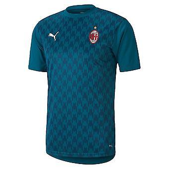 2020-2021 AC Milan Stadium Jersey (Dyp lagune)