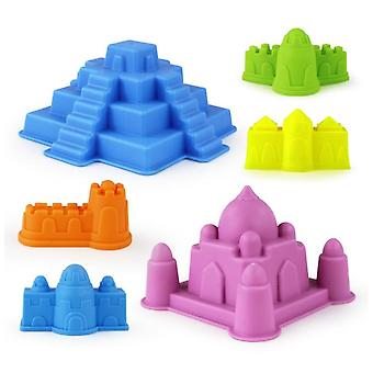 6pcs Kids Beach Castle Water Tools, Sand Game Funny Educational Toys For Best