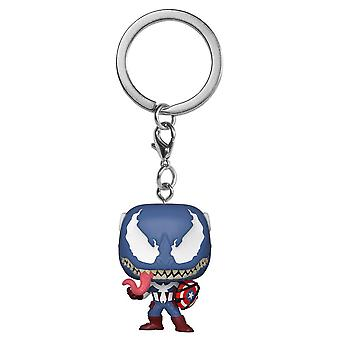 Venom Venomized Captain America Pocket Pop! Keychain