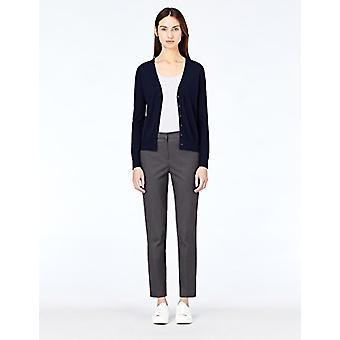 Meraki Women's Fine Merino Wool V-Neck Cardigan Sweater,  Blue (Navy), EU L (...