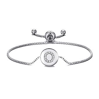 Initial friendship bracelet letter o created with swarovski® crystals