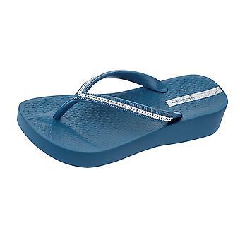 Sandalias de mujer Ipanema Flip Flops malla cuña playa - azul