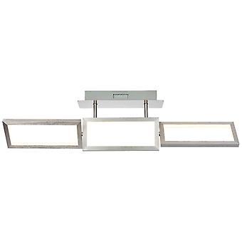 BRILLIANT Lampe Tunar LED Plafonnier 3flg alu   1x 30W LED intégrée, (2100lm, 3000K)   Échelle A++ à E   En 3 étapes