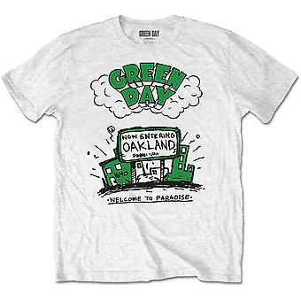 Grønn dag velkommen til paradis offisielle tee t-skjorte unisex