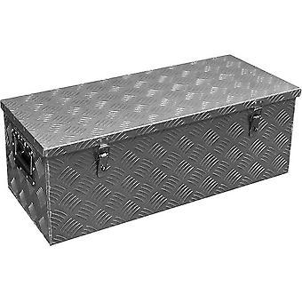opbergbox dissel aluminium 66 liter zilver
