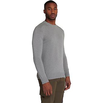 Lyle & Scott Shoulder Detail Crew Neck Knit Jumper - Mid Grey Marl