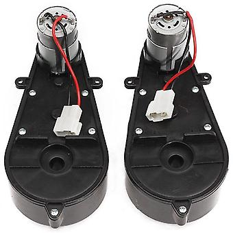 2 Pcs 550 Universal Electric Car Gearbox With Motor- 12vdc Motor With Gear Box