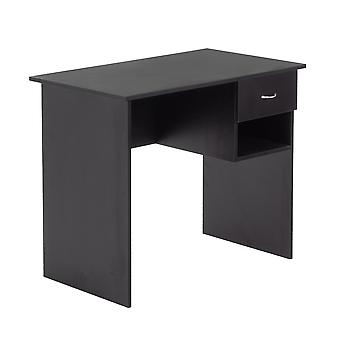 Wooden Office Computer Workstation Desk - Black