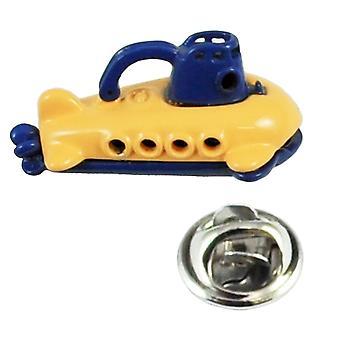 Krawatten Planet gelb & blau U-Boot Anstecknadel Abzeichen