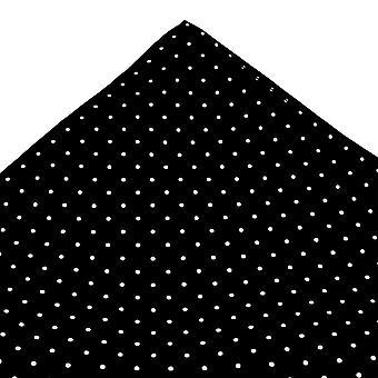 Krawatten Planet Gold Label schwarz & weiß Polka Dot gedruckt Seide Tasche Quadrat Taschentuch