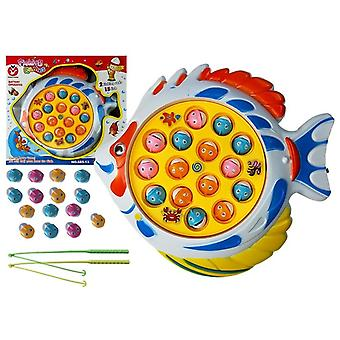 Fishing game white fishing game with 15 fish and 2 rods