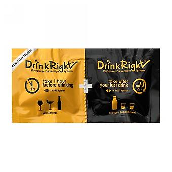 Drink Right Hang Over Prevention System, 2 tablets