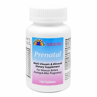 McKesson Prenatale vitamine supplement Geri-Care HealthStar Tablet 100 per fles, 100 tabbladen