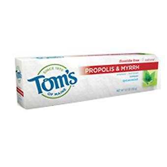 Tom's Of Maine Propolis & Myrrh Fluorure Free Dentifrice, Spearmint 5.5 oz
