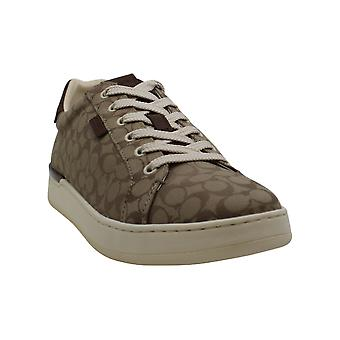 Coach Women's Shoes Lowline sig low top Leather Low Top Slip On Fashion Sneak...