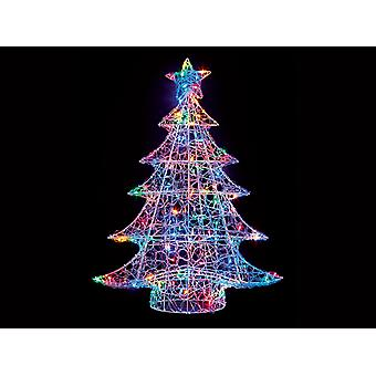 Premier Decorations Soft Lit Acrylic Tree Multi Colour 1m LV191185M