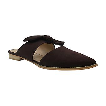 Brinley Co. Womens Bow Accent Slip-on Flat, Brown 8.5 Regular US