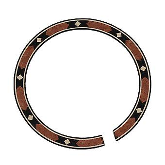 Multicolor Sound Hole Rosewood Geometric Pattern Acoustic Guitar Rosette B-104