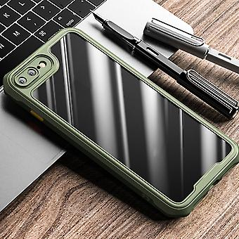 For iPhone 8 Plus / 7 Plus iPAKY Dawn Series Airbag Shockproof TPU Case(Army Green)