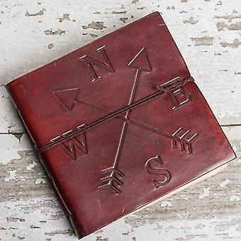 Wskazówki Square Handmade Leather Journal